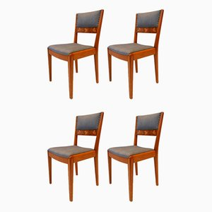 Vintage Swedish Grace Dining Chairs, Set of 4