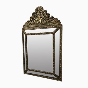 Antique Napolean III Style Gold Mirror with Beads