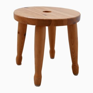 Swedish Pine Stool or Side Table, 1960s
