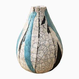 Gebrochene Steingut Vase, 1950er
