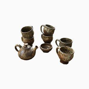 Tassen und Teekannen Set von André Bodin für Vallauris, 1960er