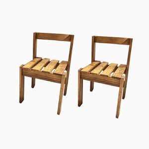 Les Arcs Style Stühle, 1960er, 2er Set