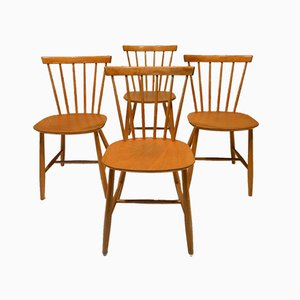 J46 Dining Chairs by Poul Volther for FDB, Denmark, 1960s, Set of 4