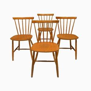 J46 Esszimmerstühle von Poul Volther für FDB, Denmark, 1960er, 4er Set