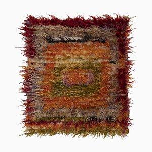 Turkish Multicolored Angora Wool Shag Rug, 1970s