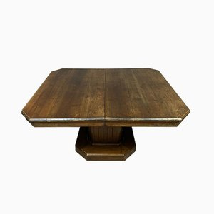 Ausziehbarer antiker Esstisch aus Nussholz