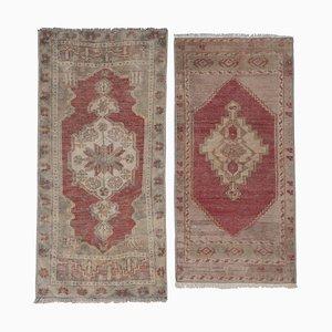 Turkish Geometric Wool Rugs, 1970s, Set of 2