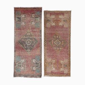 Turkish Small Carpets, 1970s, Set of 2