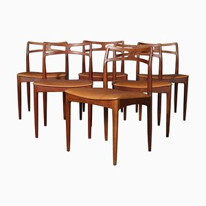 Teak Model 96 Dining Chairs by Christian Linneberg for Johannes Andersen, 1960s, Set of 6