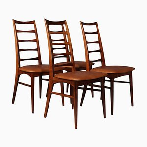 Modell Lis Palisander Esszimmerstühle von Niels Koefoed, 1960er, 4er Set