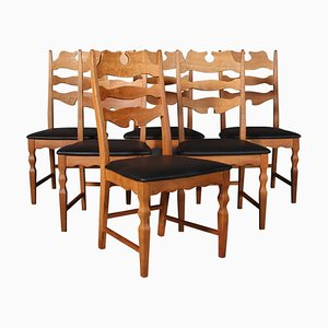 Razorblade Dining Chairs by Henning Kjærnulf, 1960s, Set of 6