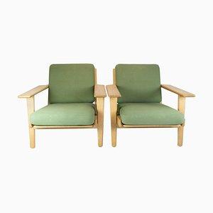 Model GE290 Armchairs by Hans J. Wegner, 1960s, Set of 2