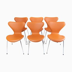 Model 3107 Seven Chairs by Arne Jacobsen, Set of 6
