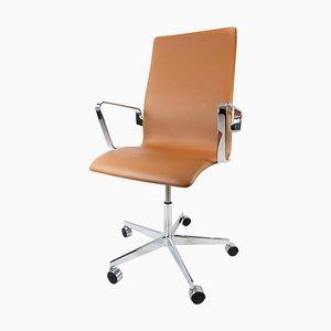 Sedia da ufficio modello 3293C Oxford classica di Arne Jacobsen, 1963