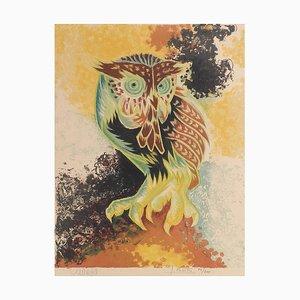 Jean Lurcat, Lithografie Eule, Ungerahmt, 1940-1960er