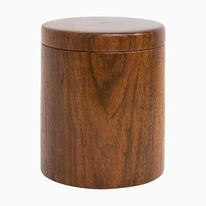 French Cylindrical Wood Box, 1960s