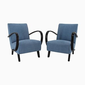 Armchairs by Jindrich Halabala, Czechoslovakia, 1950s, Set of 2