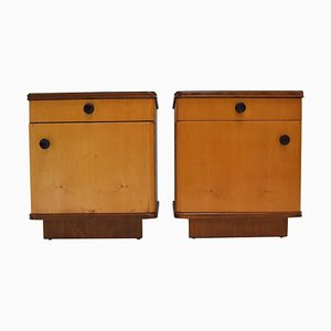 Mid-Century Czechoslovakian Bedside Tables, 1960s, Set of 2
