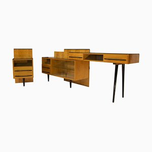 Modular Set of Nightstand and Chest of Drawers by M. Pozar, 1960s, Set of 3