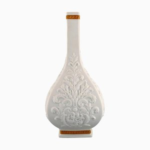 White Baroque Vase in White Ceramics by Gianni Versace for Rosenthal