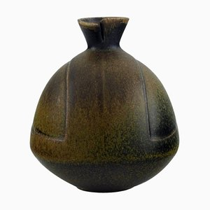 Vase in Glazed Stoneware by Gabi Citron-Tengborg for Gustavsberg, Mid-20th Century