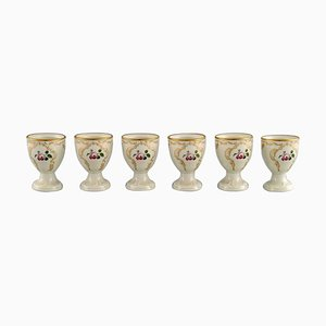 Rose Egg Cups in Hand Painted Porcelain from Rosenthal, Mid-20th Century, Set of 6