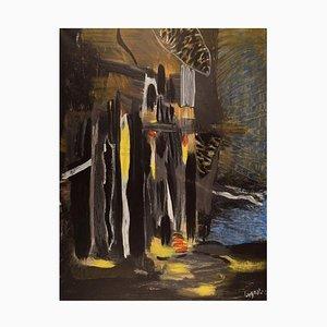 Edera Lysdal, acrilico su tela, Pittura modernista astratta, fine XX secolo