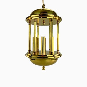 Large Brass Ceiling Lamp, 1960s