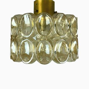 Glass Ceiling Lamp from Glashütte Limburg, 1960s
