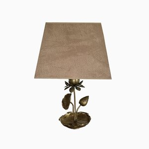 Brass Flower Table Lamp