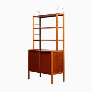 Teak / Oak and Brass Bookcase by Bertil Fridhagen for Bodafors, Sweden, 1960s