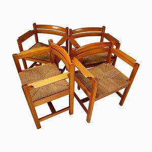 Asserbo Stühle von Borge Mogensen für AB Karl Andersson & Söner, Schweden, 1960er, 4er Set