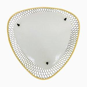 Mid-Century Sputnik Messing & Kunststoff Einbauleuchte, 1960er