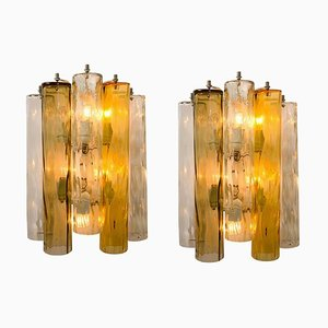 Large Wall Lights in Murano Glass by Barovier & Toso, Set of 2