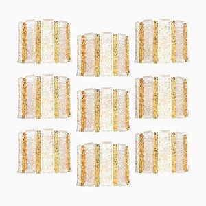 Applique da parete tamburo placcato in oro e vetro di JT Kalmar, Austria