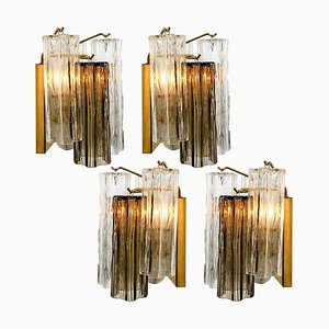 Smoked and Clear Glass Wall Light by J.T Kalmar, Austria, 1960s