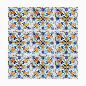 Handmade Antique Ceramic Tiles from Devres, France, 1910s