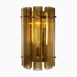 Large Murano Glass and Brass Sconce