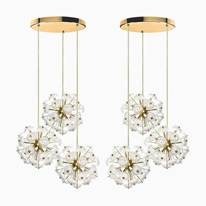 Large Cascade Light Fixtures in the Style of Emil Stejnar, Set of 2