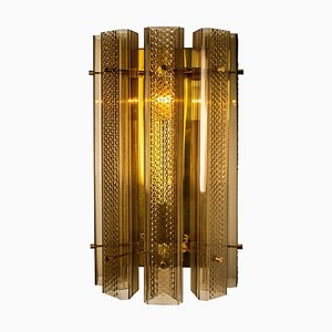 Large Murano Wall Light in Glass and Brass
