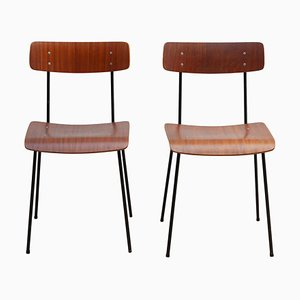 Plywood Dining Chairs by André Cordemeyer for Gispen, 1959, Set of 2