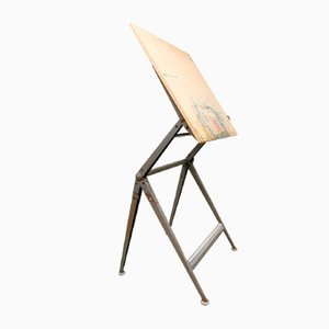 Vintage Dutch Industrial Drawing Table from Ahrend Circle