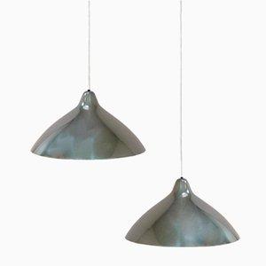 Polierte Aluminium Lampen von Lisa Johansson Pape für Stockmann Orno, 2er Set