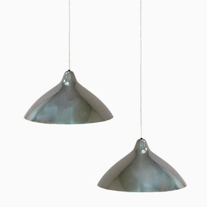 Polished Aluminum Lamps by Lisa Johansson Pape for Stockmann Orno, Set of 2