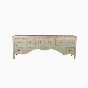 Painted English Dresser Base, 1820s