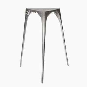 Large Pewter Side Table by Handmade Industrials