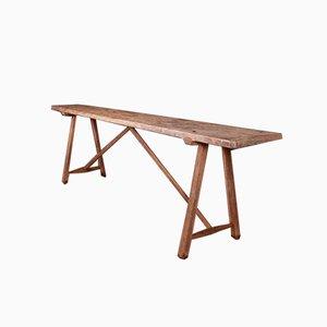 Tavolo in legno di quercia e pioppo, Francia, fine XIX secolo