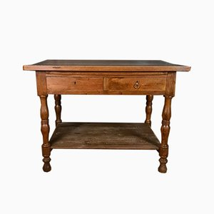 French Walnut Draper's Table, 1860s