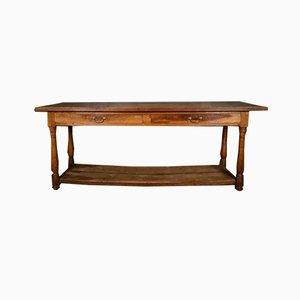Französischer Walnuss Tücher Tisch, 1860er