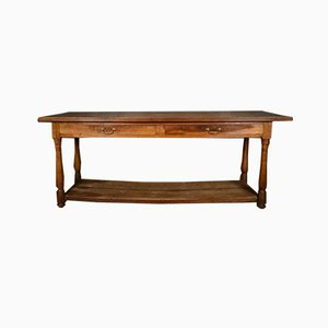 French Walnut Drapers Table, 1860s